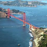 Golden Gate Bridge Art Print by Stickney Design