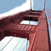Golden Gate Bridge Tower Art Print