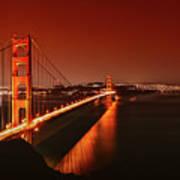 Golden Gate Evening Art Print