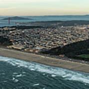 Golden Gate Park And Ocean Beach In San Francisco Art Print