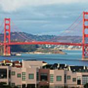 Golden Gate Print by Stickney Design