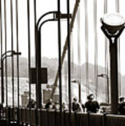Golden Gate Suspension Art Print