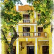 Golden Hotel Art Print