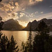 Golden Jenny Lake View Art Print