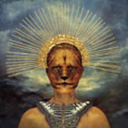 Golden Jungle Queen Art Print