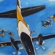 Golden Knights Army Parachute Team Art Print
