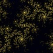 Golden Lace On Black Velvet Art Print