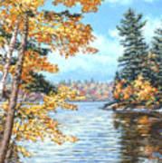 Golden Lake Art Print