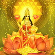 Golden Lakshmi Art Print