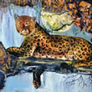 Golden Leopard Art Print