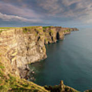 Golden Light At The Cliffs Of Moher Art Print