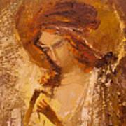 Golden Light Of Angel. Fragment Art Print