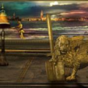 Golden Lion From Alternative Earth Art Print