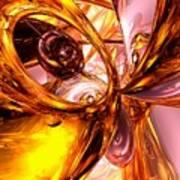 Golden Maelstrom Abstract Art Print