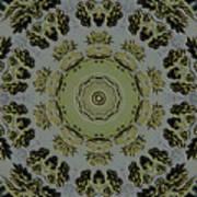 Mandala In Pewter And Gold Art Print