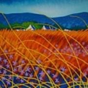 Golden Meadow Print by John  Nolan