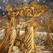 Golden Minstrels. Art Print