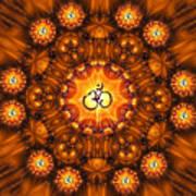 Golden Om Fracdala Art Print