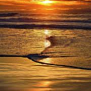 Golden Pacific Sunset Art Print