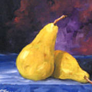 Golden Pears Art Print