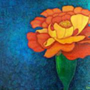 Golden Petals  Art Print