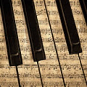 Golden Pianoforte Classic Art Print