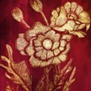 Golden Poppies Art Print