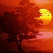 Golden Rays Of The Sun  Art Print