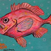 Golden Redfish Art Print