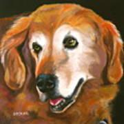 Golden Retriever Fur Child Art Print by Susan A Becker