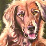 Golden Retriever More Than You Know Art Print by Susan A Becker