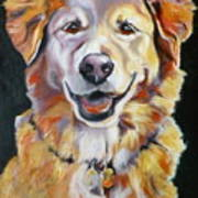 Golden Retriever Most Huggable Art Print