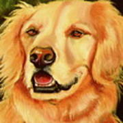 Golden Retriever Sweet As Sugar Art Print by Susan A Becker
