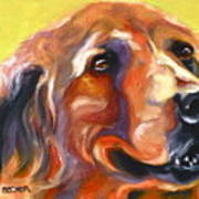 Golden Retriever The Shadow Of Your Smile Art Print by Susan A Becker