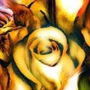 Golden Rose N Twilight Art Print