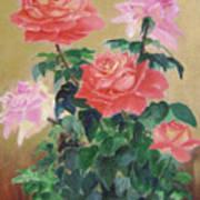 Golden Roses Art Print
