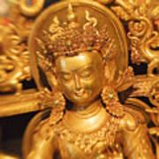 Golden Sculpture Art Print