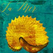 Golden Shell Art Print