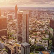 Golden Skyscrapers Of Frankfurt Art Print