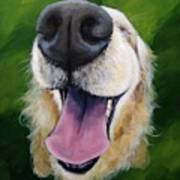 Golden Smile Art Print