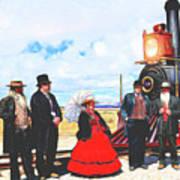 Golden Spike Railroad - Wating - 0749 G Art Print