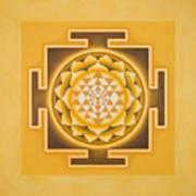 Golden Sri Yantra - The Original Art Print