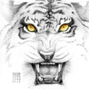 Golden Tiger Eyes Art Print