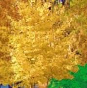 Golden Tree Art Print