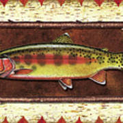 Golden Trout Lodge Art Print