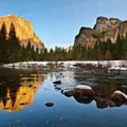 Golden View - Yosemite National Park. Art Print