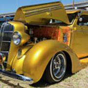 Golden Vintage Dodge Art Print
