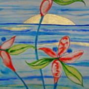 Golden Waikiki Sunset Art Print