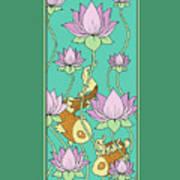 Goldfish And Lotus Art Print