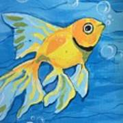 Goldfish Whisper Art Print
